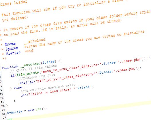 Autoload php classes