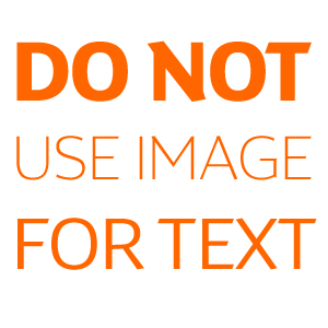 do not use images for text
